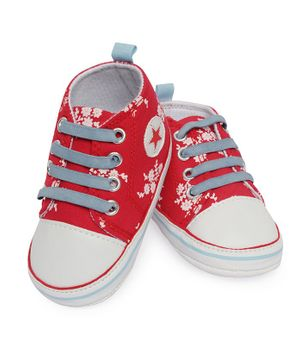 Morisons Baby Dreams Casual Shoes Floral Print - Red