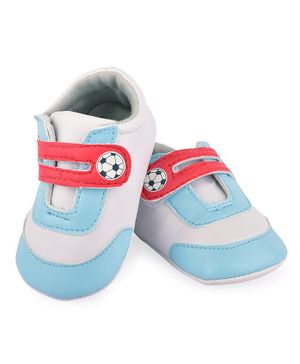 Morisons Baby Dreams Casual Shoes Football Print - Blue