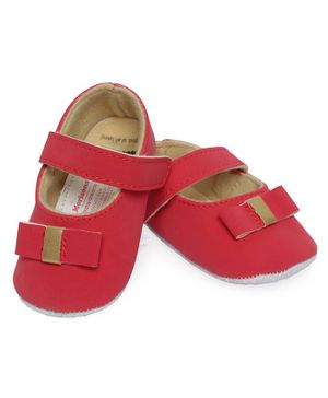 Morisons Baby Dreams Belly Shoes With Bow Applique - Red