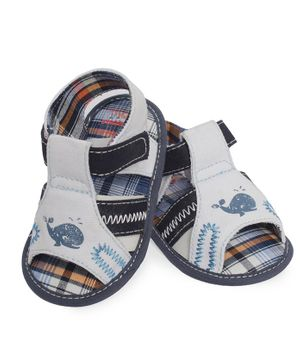 Morisons Baby Dreams Sandals Whale Print - Blue