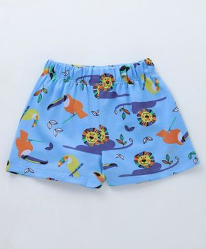 Crayonflakes Jungle Print Elasticated Shorts - Blue