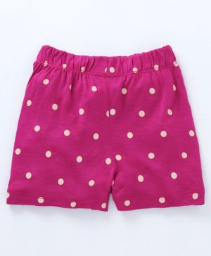 Crayonflakes Dots Print Elasticated Shorts - Pink