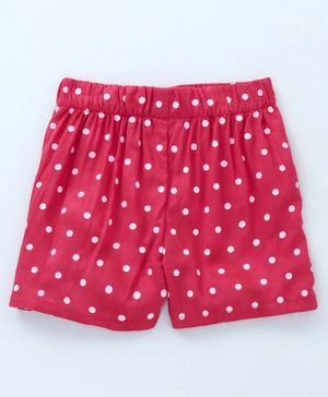 Crayonflakes Dots Printed Elasticated Shorts - Pink