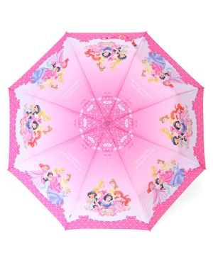John's Umbrellas With Whistle Disney Princess Print - Pink