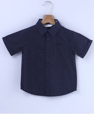 Beebay Ditsy Printed Half Sleeves Shirt - Navy Blue