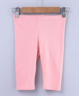 Beebay Solid Three Fourth Length Leggings - Pink