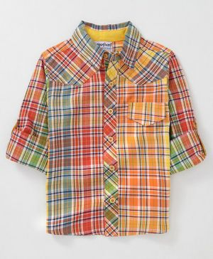 Nauti Nati Full Sleeves Checked Shirt - Multi Colour