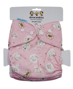 Abracadabra Reusable Diaper Animal Print - Pink