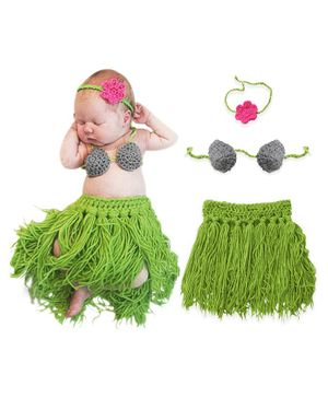 Bembika Knitted Fringe Dancer Baby Photography Prop Set of 3 - Multicolour