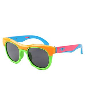 Spiky Colorblock Polarised UV Protected Sunglasses - Orange