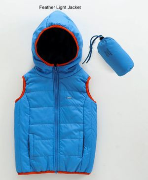 Babyoye Sleeveless Lightweight Hooded Padded Jacket - Blue