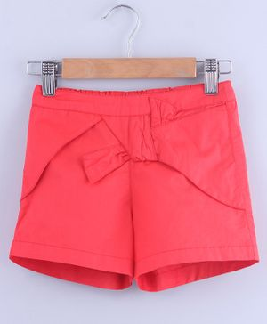 Beebay Solid Elasticated Shorts  - Peach