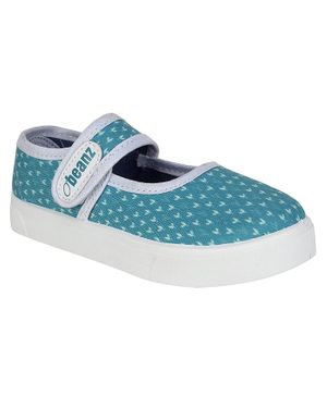 Beanz Printed Velcro Closure Casual Shoes - Blue