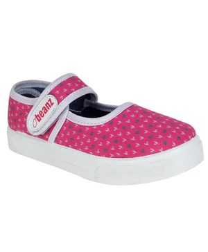 Beanz Printed Velcro Closure Casual Shoes - Pink