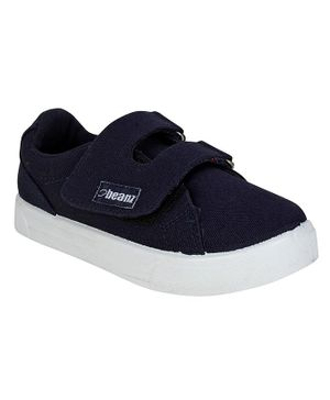 Beanz Solid Double Velcro Casual Shoes  - Navy Blue