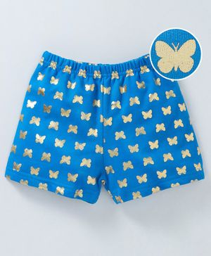 Bodycare Shorts Butterfly Print - Blue