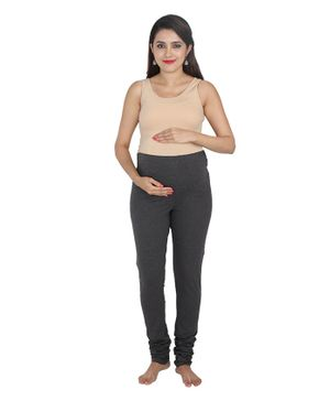 Lulamom Maternity Active Full Length Legging with Belly Band Support - Black