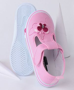 Cute Walk by Babyhug Casual Shoes Butterfly Motif - Light Pink