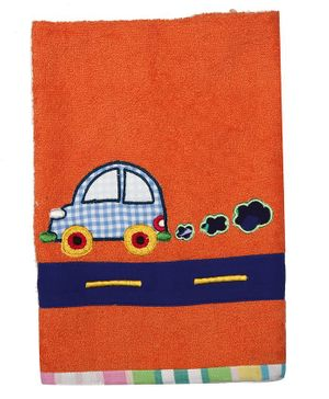 Princess & Her Bunny Cotton Hand Towel Car Patch - Orange