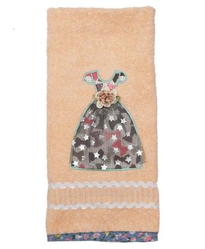 Princess & Her Bunny Cotton Hand Towel Dress Patch - Peach