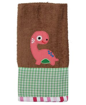 Princess & Her Bunny Cotton Hand Towel Dino Patch - Brown