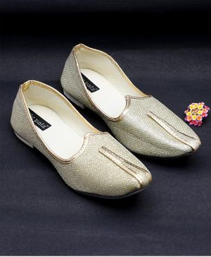 Little Palz Shimmer Detailed Mojaris - Golden