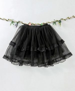 Meng Wa Party Wear Skirt - Black