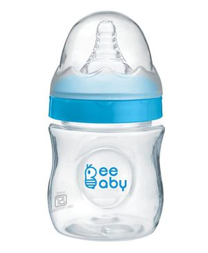 Beebaby Ease Polypropylene Wide Neck Feeding Bottle Blue - 150 ml
