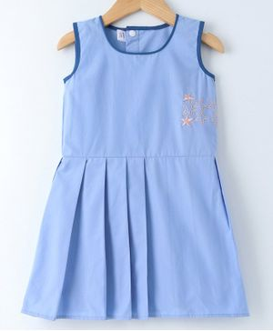 Mish Organic Stars Embroidered Sleeveless Dress - Blue