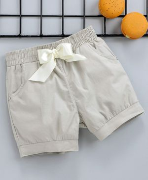 Reike Trees Elasticated Waist Shorts - Cream