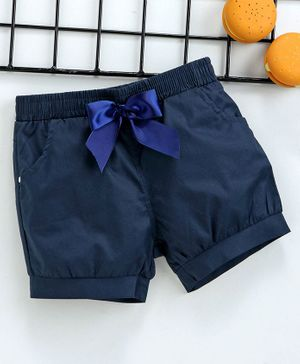 Reike Trees Elasticated Waist Shorts - Navy Blue