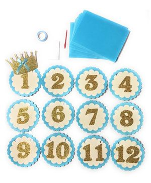 Shopperskart Happy Birthday Banner Pack of 12 - Sky Blue