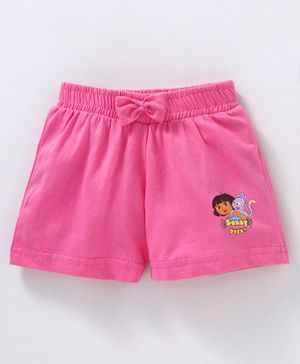 Red Ring Shorts Dora Print - Pink