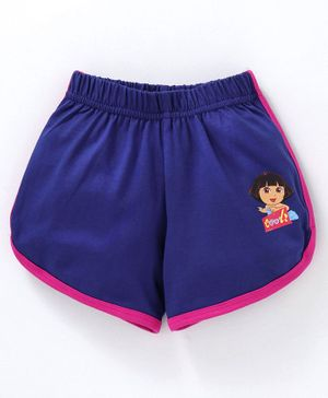 Red Ring Shorts Dora Print - Royal Blue