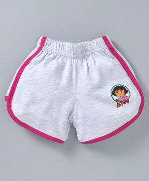 Red Ring Shorts Dora Print - Light Grey