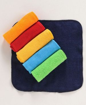 Babyhug Cotton Terry Hand & Face Towels Pack of 6 - Multicolor