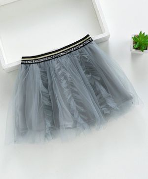 Meng Wa Netted Skirt - Grey