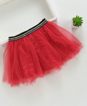 Meng Wa Netted Skirt - Red