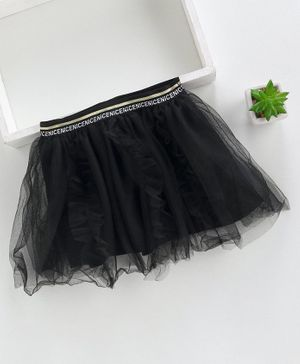 Meng Wa Netted Skirt - Black