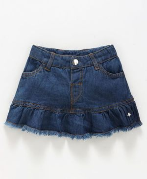 Babyoye Short Length Denim Skirt - Dark Blue