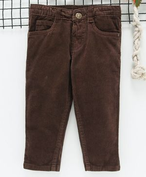 Babyhug Full Length Corduroy Pants - Coffee