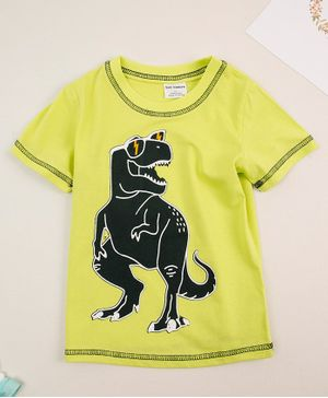 Awabox Half Sleeves Dinosaur Print Tee - Green