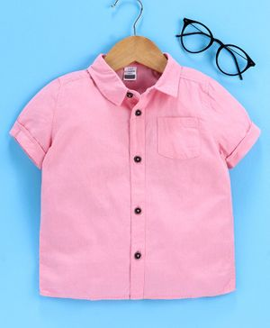 LC Waikiki Half Sleeves Solid Shirt - Light Pink