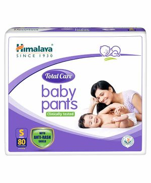 Himalaya Herbal Total Care Baby Pant Style Diapers Small - 80 Pieces
