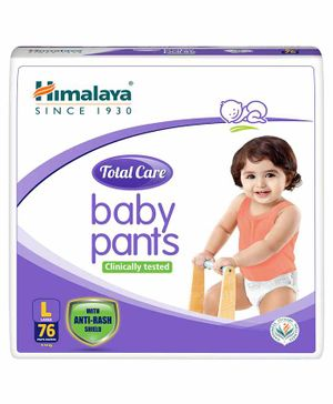 Himalaya Herbal Total Care Baby Pant Style Diapers Large - 76 Pieces