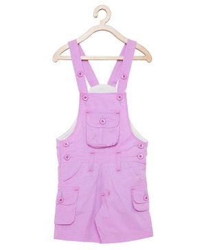FirstClap Solid Sleeveless Dungaree - Lavender