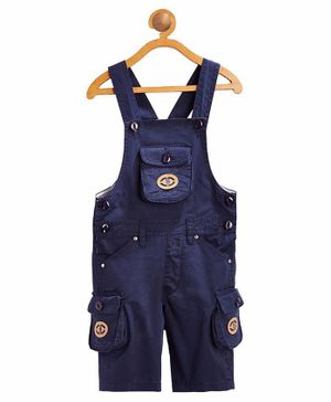FirstClap S Patch Sleeveless Dungaree - Navy Blue
