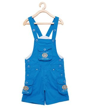 FirstClap S Patch Sleeveless Dungaree - Blue