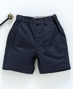 marshmallows Solid Color Shorts - Navy Blue