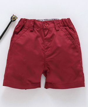 marshmallows Solid Color Shorts - Red